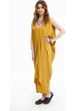 Los Banditos Kadın Sarı Bodrum Elbise E09