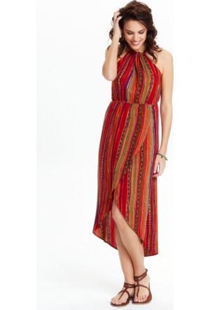 Los Banditos Kadın Turuncu Lipe Elbise E49