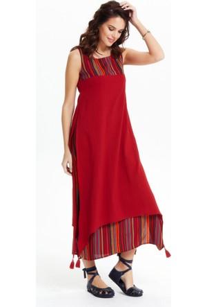 Los Banditos Kadın Kırmızı Maya Elbise E55
