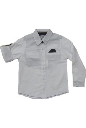 Timo Erkek Çocuk Katlama Kol Gömlek