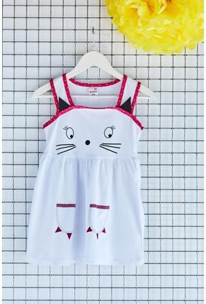 FullaModa Kız Çocuk Baskılı Elbise 17Y17AKKU0002300