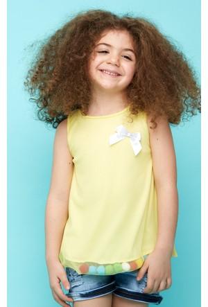 FullaModa Kız Çocuk Fiyonklu Tüllü Elbise 17Y17AKKU0008337