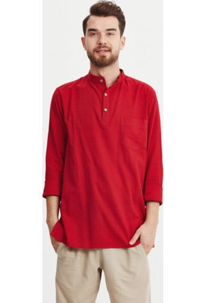 Los Banditos Erkek Kırmızı Elvis Gömlek G02