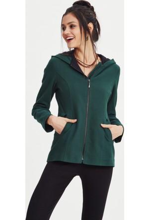 Los Banditos Kadın Yeşil Perla Kapüşonlu Sweat Shirt Kc10