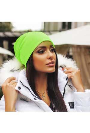 Leydika Moda Ayarlanabilir Uzun Bayan Bere Yeşil