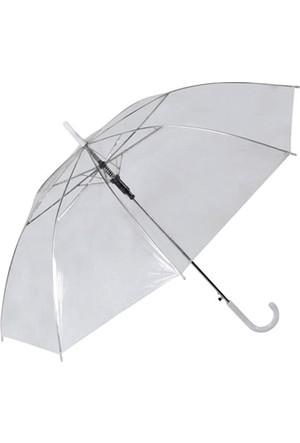 Toptancı Kapında Şeffaf Şemsiye