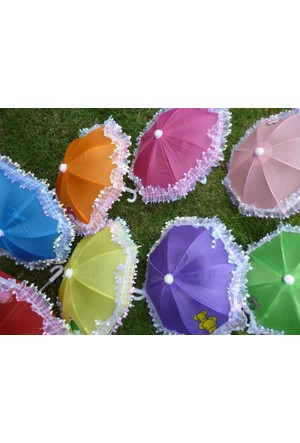 Toptancı Kapında Dekoratif Mini Şemsiye