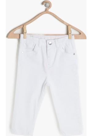 Koton Kız Çocuk Normal Bel Pantolon Beyaz
