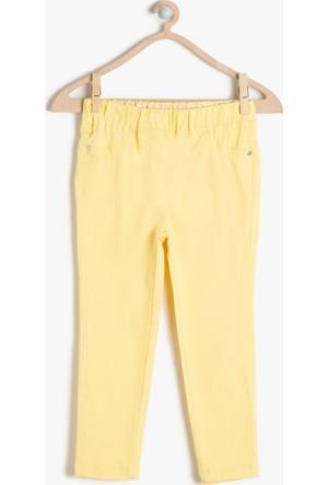 Koton Kız Çocuk Normal Bel Pantolon Sarı