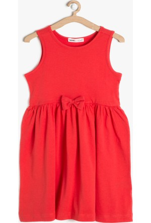 Koton Kız Çocuk Fiyonk Detaylı Elbise Kırmızı