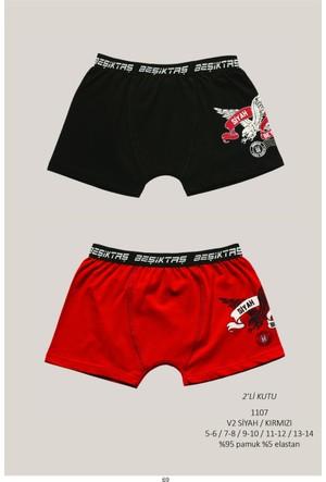 Roly Poly Beşiktaş Lisanslı Çocuk 2'li Baskılı Boxer