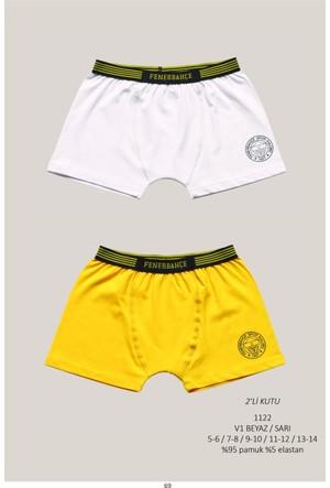 Roly Poly Fenerbahçe Lisanslı Çocuk 2'li Logolu Boxer