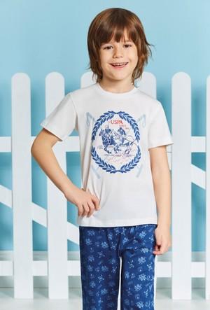 U.S. Polo Assn. Erkek Garson Alt Uzun Pijama Takımı