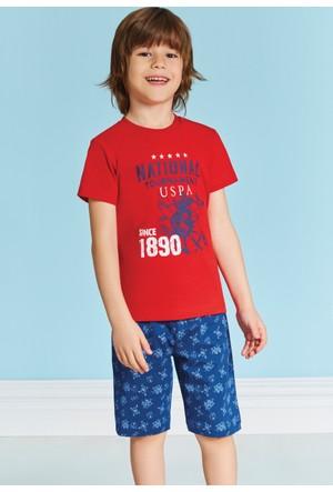 U.S. Polo Assn. Erkek Garson Bermuda Pijama Takımı