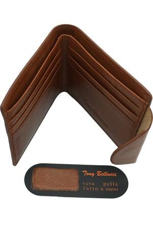 Tony Bellucci M20-912 Taba Gerçek Deri Erkek Cüzdanı