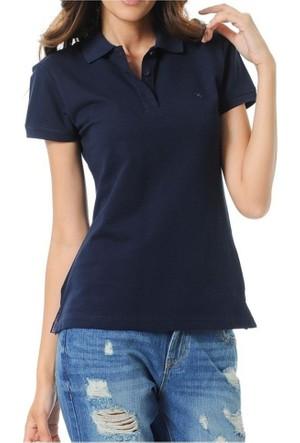 Cazador Bayan Polo Yaka T-Shirt Lacivert 4311