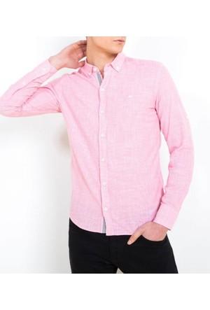 Cazador Pamuk Uzun Kollu Erkek Gömlek Kırmızı 2069