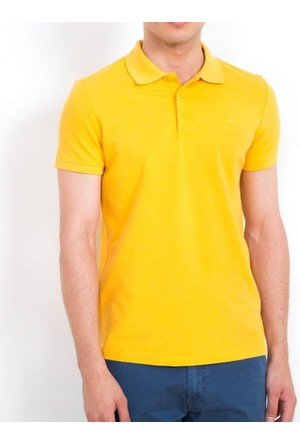 Cazador Polo Yaka T-Shirt Slim Fit Hardal 4613