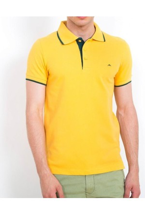 Cazador Polo Yaka T-Shirt Slim Fit Hardal 4614