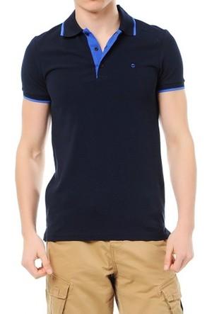 Cazador Polo Yaka T-Shirt Slim Fit Lacivert 4614