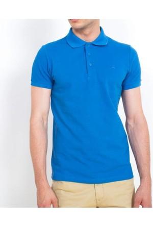 Cazador Polo Yaka T-Shirt Slim Fit Mavi 4613