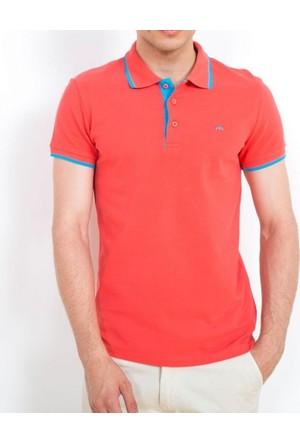 Cazador Polo Yaka T-Shirt Slim Fit Nar Çiçeği 4614
