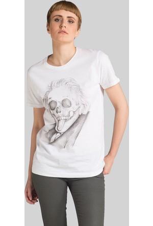 Happiness Einstein Skull T-Shirt16044