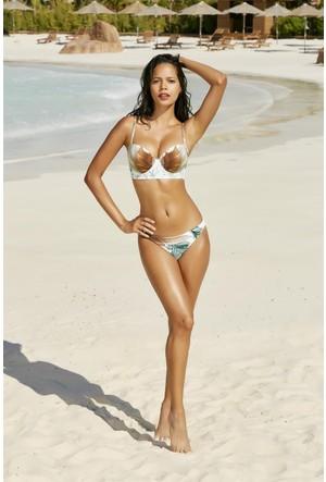 Pierre Cardin Dolgulu Büstiyer Bikini