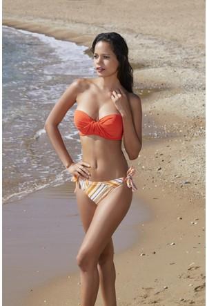 Pierre Cardin Dolgulu Straplez Bikini