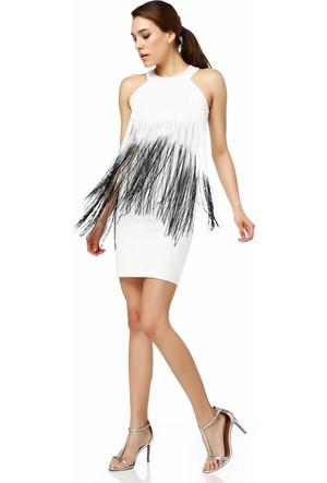 Sense 13998 Kolsuz Renkli Saçaklı Dalgıç Elbise