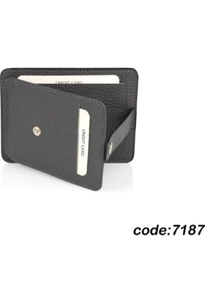 Dearybox Safir Unisex Deri Kredi Kart ve Bozuk Para Cüzdanı Model 7187