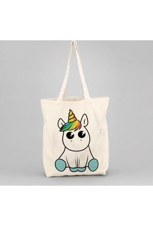 İf Dizayn Minik Unicorn Tasarım Bez Çanta