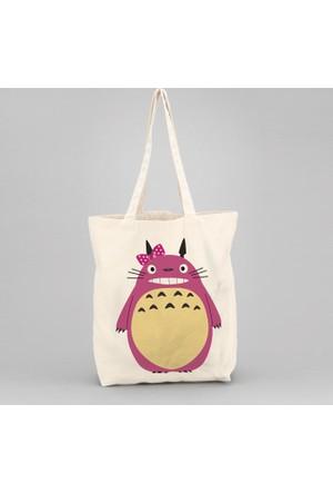 İf Dizayn Totoro Tasarım Bez Çanta