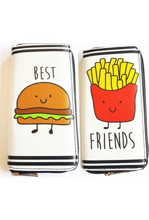 Köstebek Hamburger & Patates Kızartması Best Friends Uzun Cüzdan