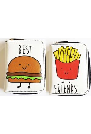 Köstebek Hamburger & Patates Kızartması Best Friends Cüzdan