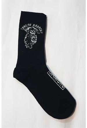 Köstebek Sons Of Anarchy Samcro Siyah Kadın Çorap