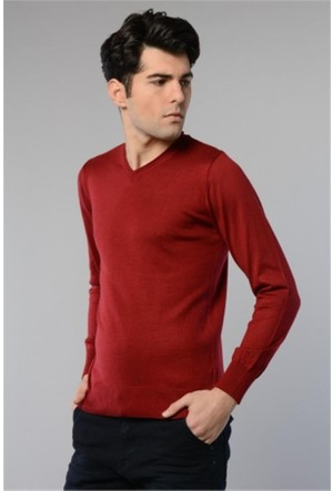 Rodin Hills Bordo V. Yaka Basic Triko Sweat Shirt 1024