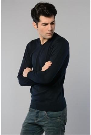 Rodin Hills Lacivert V. Yaka Basic Triko Sweat Shirt 1024