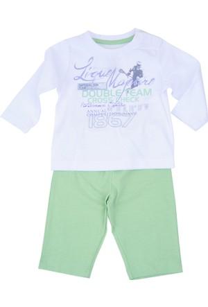 Zeyland Erkek Çocuk Beyaz T-shirt + Tek Alt - 71M1MB1606
