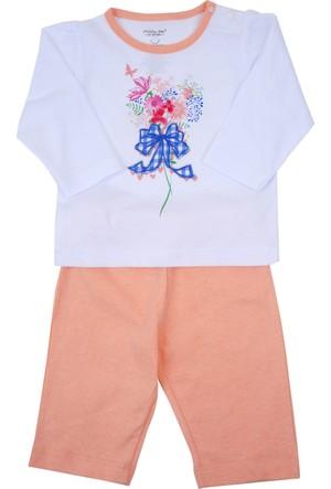Zeyland Kız Çocuk Beyaz T-shirt+Tek Alt - 71M2MB1105