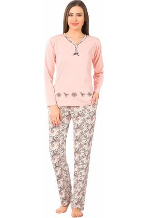 Remsa Pijama Pamuklu Bayan Pijama Takımı 2187 Pembe