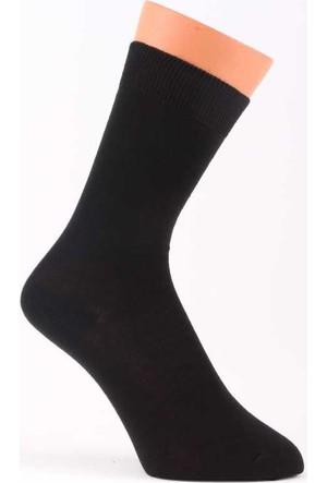 Warmen Düz Siyah Dikişsiz Çorap