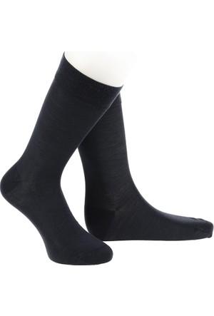 Warmen Düz Füme Dikişsiz Çorap