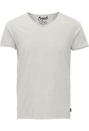 Jack Jones T-Shirt Jorwolf Ss V Neck 12125325-CLD