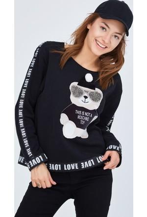 FullaModa Baskılı Sweatshirt 17K17SUPER0001338