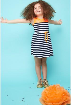 FullaModa Kız Çocuk Dantelli Elbise 17Y17AKKU0009702