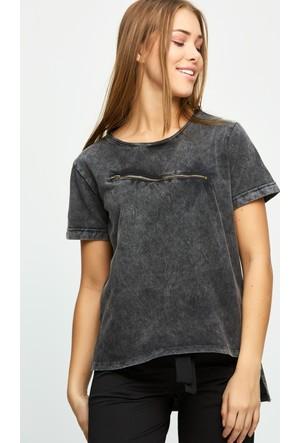 FullaModa Fermuarlı T-Shirt 17Y17AKYÜZ001212