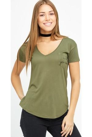 FullaModa Baskılı T-Shirt 17Y17SPR0004313