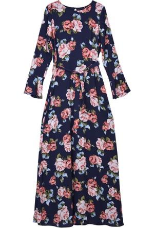 Burucline 0836 Romantik Voanlı Uzun Elbise 17-1
