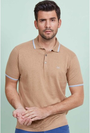 Hemington Camel Polo Yaka Triko T-Shirt